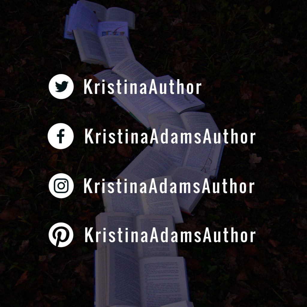 Where to find Kristina Adams on social media.