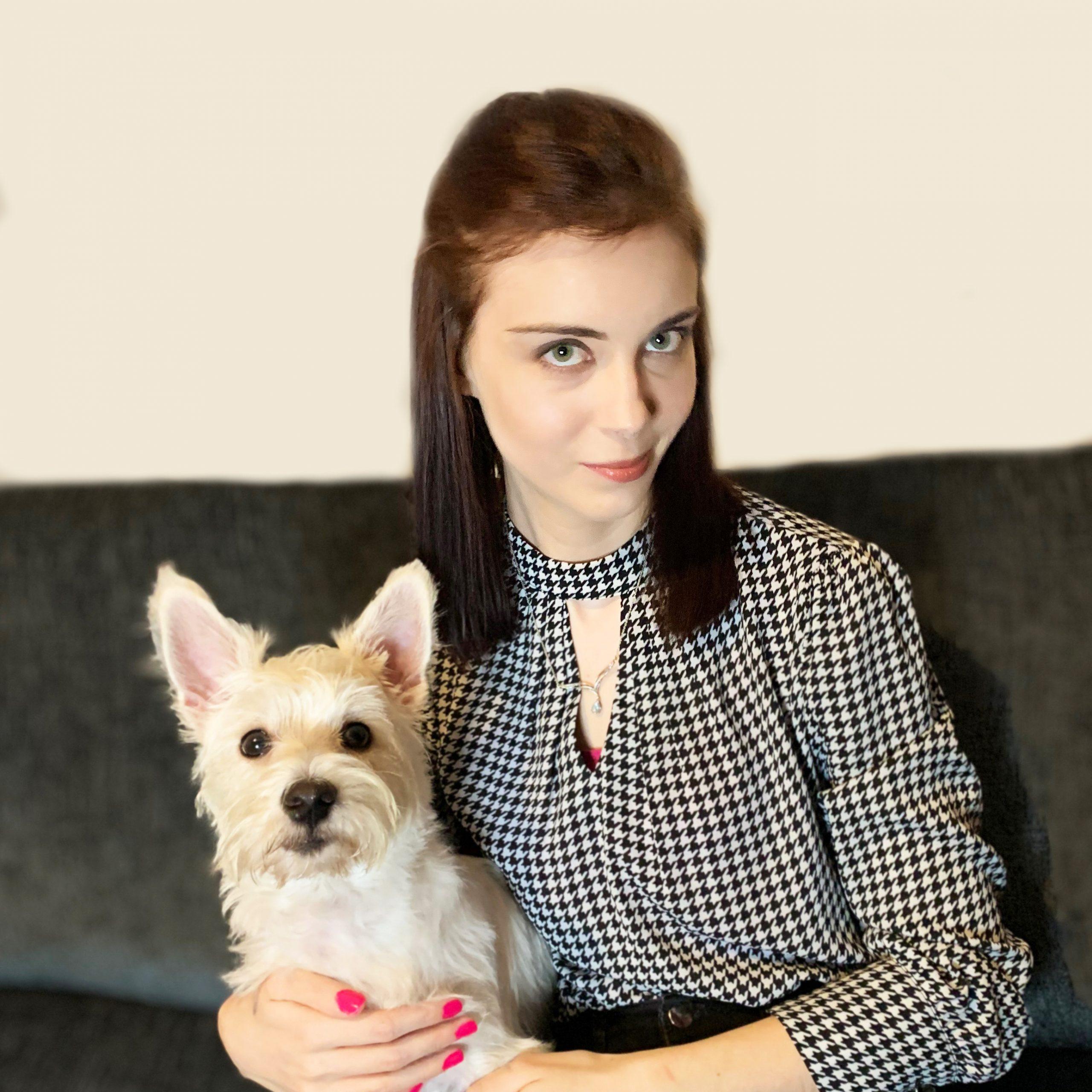 Kristina Adams and her dog, Millie