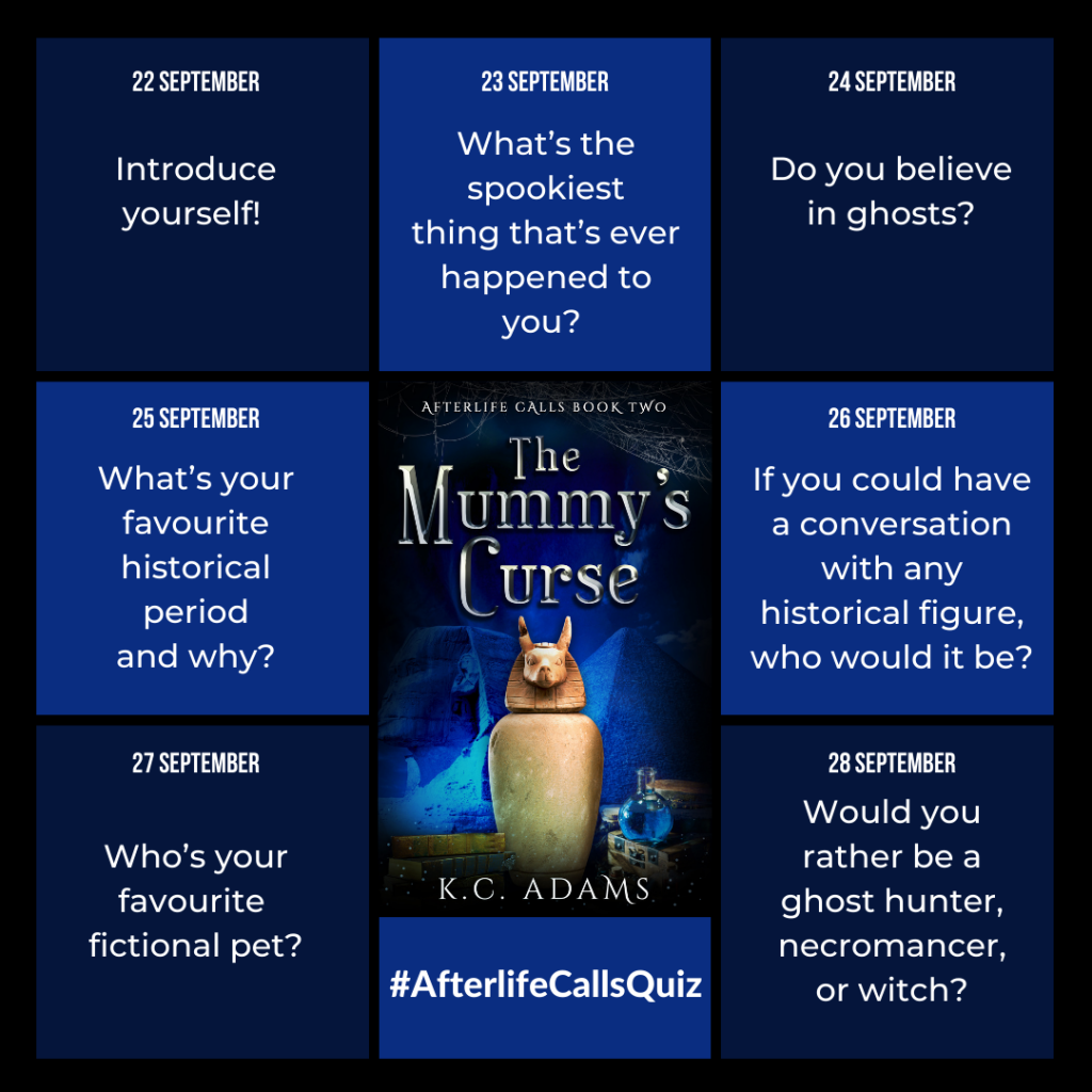 Afterlife Calls quiz questions. See above for what they are.